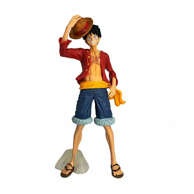 Monkey D Luffy Action Pvc Figure Toy Brinquedos 25.5cm Complete Range Of Articles Toys & Hobbies Anime 1/7th Scale One Piece Big Size Ver