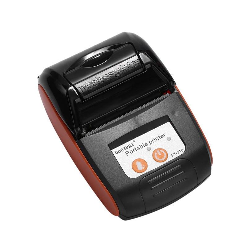 Goojprt Pt210 58Mm Bluetooth Thermal Printer Portable Wireless Receipt Machine For Windows Android Ios Eu Plug