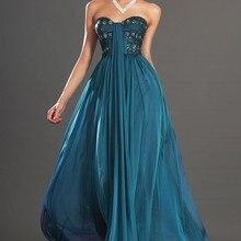 Новое Великолепное шифоновое вечернее платье без бретелек с вырезом сердечком