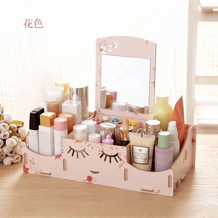 Stay Gold Wooden Creative Storage Box Diy Desktop Cosmetic ...