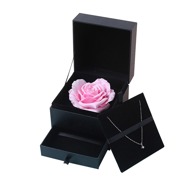 סימולציה רוז סבון פרח עם תיבת מזכרות חתונה חג אהבת מתנת יום הולדת יפה מתנה עבור אמא P20