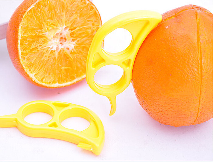 10pcs/lot Orange Peelers Zesters Opener Practical Lemon Fruit Slicer Stripper Vegetable Cooking Tool KX 326