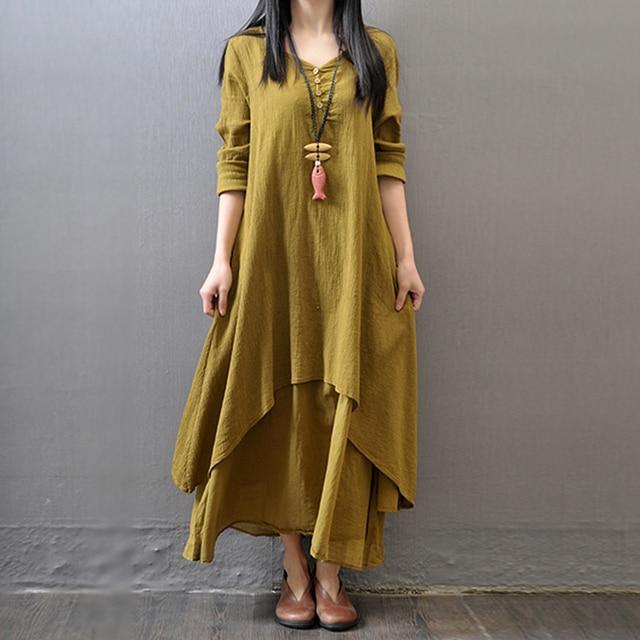 Women's Linen Maxi Dress 2