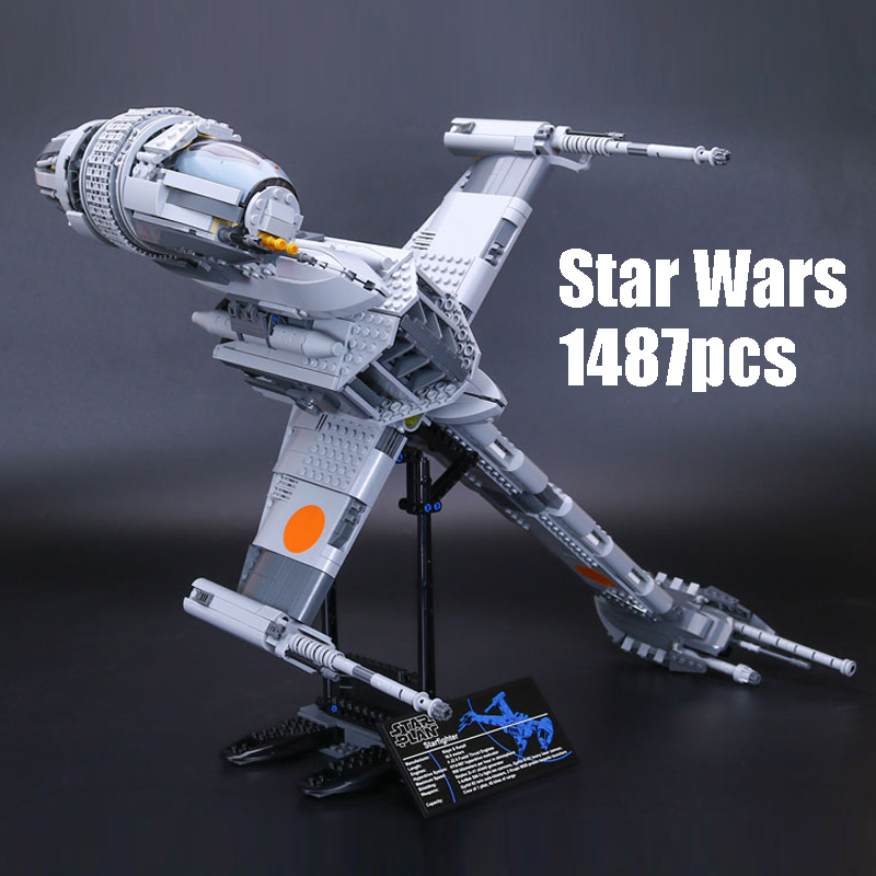 DHL The B-wing Starfighter 1487pcs compatible Legoinglys Star Wars UCS Series Building Blocks Brick Educational Toys kids Gifts mini qute kawaii wise hawk star war darth vader x wing starfighter r2d2 yoda building blocks brick model figures educational toy