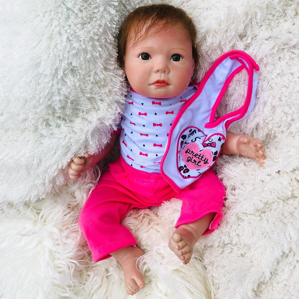 Réel 0-6 mois nouveau-né poupées silicoen mains pieds Bebe 50 cm Reborn poupées fille vivante bébé réaliste poupée enfants Non-toxique jouet cadeau