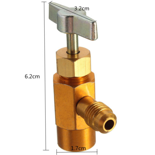 R-134a Refrigerant Can Bottle Tap Valve Tool 1/4 SAE Threaded Adapter Plug M14 hs 1221 hs 1222 r410a refrigeration charging adapter refrigerant retention control valve air conditioning charging valve
