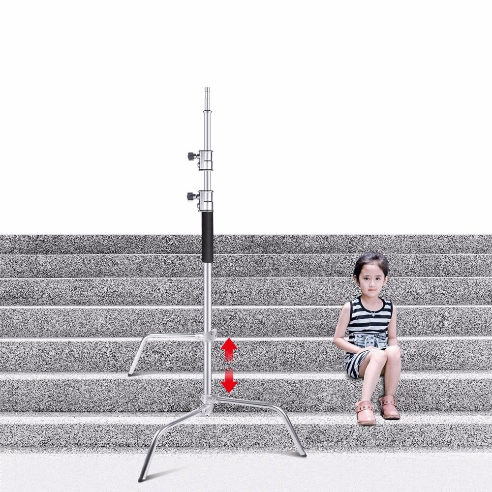 Neewer Photo Studio Verbeterde Heavy Duty C Stand met Een Verstelbare Flexibele Been, voor Fotografie Reflectoren, softboxen, Monolights - 2