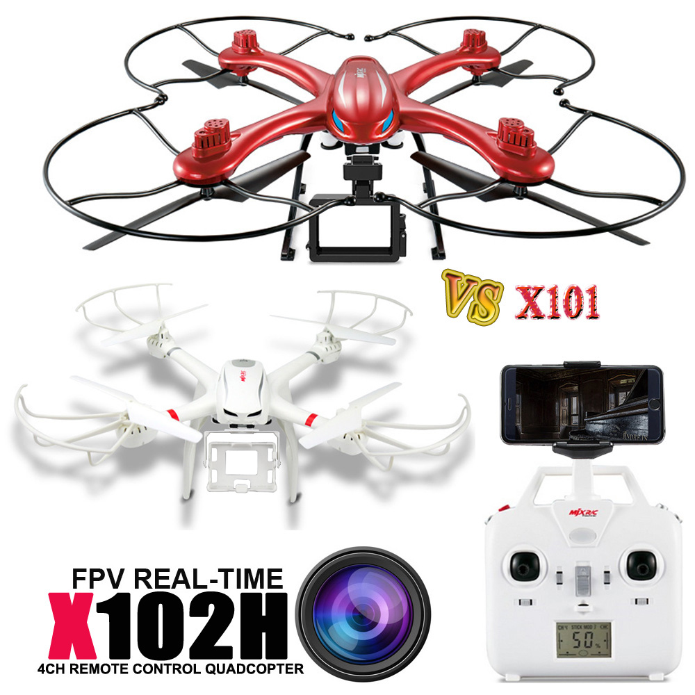 Free Shipping SUPER Professional Drone MJX X102H With Camera Mount Can Add Gopro SJ4000 VS X101