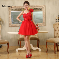Dressy New Star Red Short Exqusite Homecoming Dresses One Shoulder Gorgeous Grade Graduation For Prom Party
