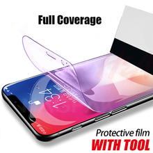 8D Full Soft Hydrogel Film For iphone 8 7 6 6s Plus X Cover Screen Protector XS Max XR Protective Not Glass