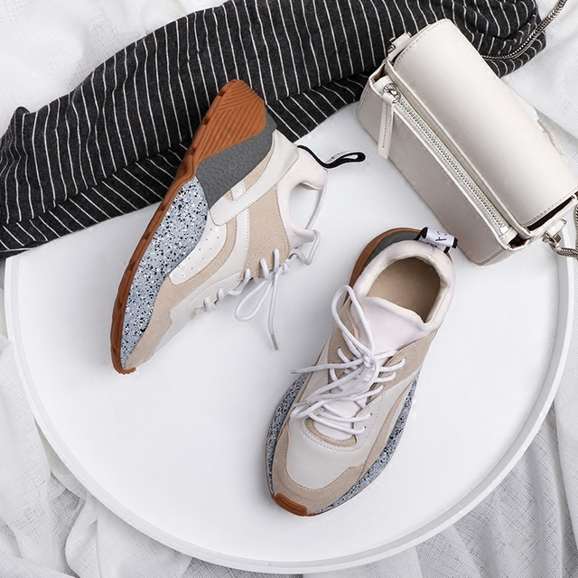 Prova Perfetto New Style Genuine Leather Lace-up Casual Shoes in women's Vulcanized Shoes Woman Rainbow Platform Flats Sneakers 2