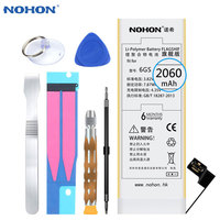 2017 Hot NOHON Lithium Battery For Apple IPhone 6S 6GS Internal Replacement Batteries Bateria 2060mAh Free