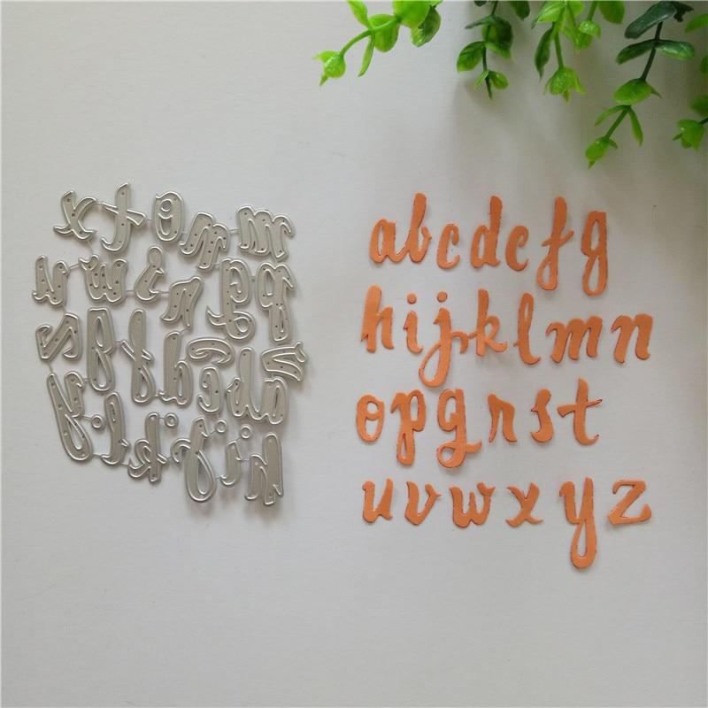 Diy Alphabet Handmad Paper Letters Metal Cutting Dies Embossing Scrapbooking Cutting Dies Craft 2018 New