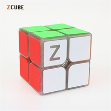 Newest Zcube 2x2 Magic Cube Blue light Transparent Glow Competition Speed Puzzle Cubes cubo Pattern Stickers