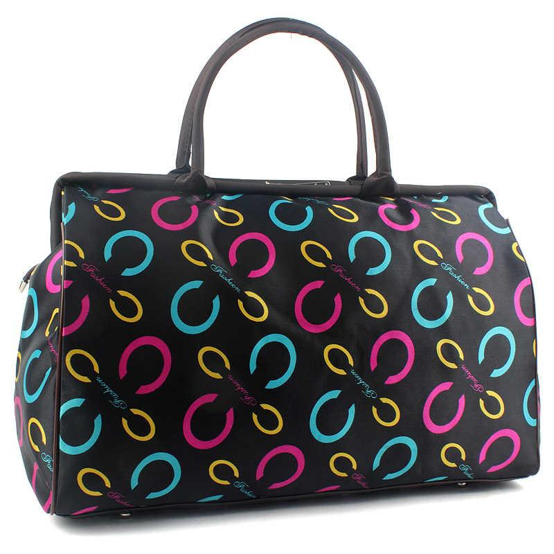e7662e621c4c Большая Дорожная сумка женская мода Повседневное дорожные сумки Duffle  сумочке Чемодан Размеры 44*30*