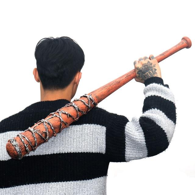 82cm The Walking Dead tool Negan Action Figure Toy model Weapon Cosplay PVC baseball bat softball bit stick Toys 4