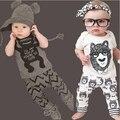 TZ-280 Nuevo estilo de verano de algodón ropa de los niños muchachas de los muchachos de manga corta bebé mameluco ropa de recién nacido traje ropa de bebé 2017
