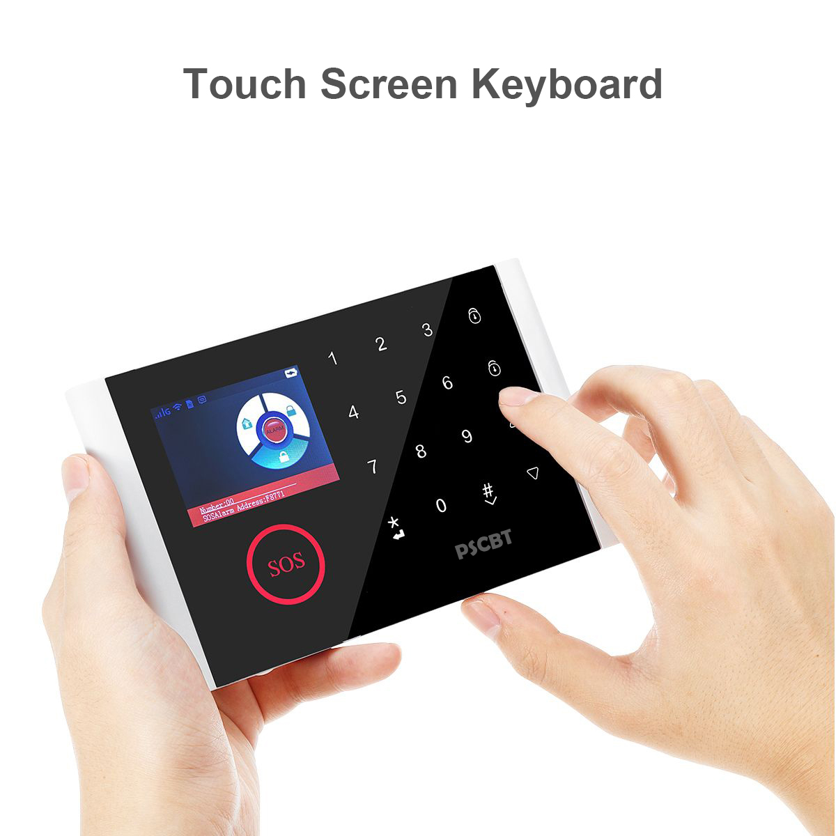 Awaywar wifi GSM домашняя охранная смарт сигнализация комплект 4,3 дюймов сенсорный экран приложение дистанционное управление RFID Arm Disarm - 3