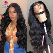 Moxika 13*4 Lace Frontal Closure Wig Lace Front Human Hair Wigs With Baby Hair Remy Brazilian Body Wave Bob Wigs For Black Women