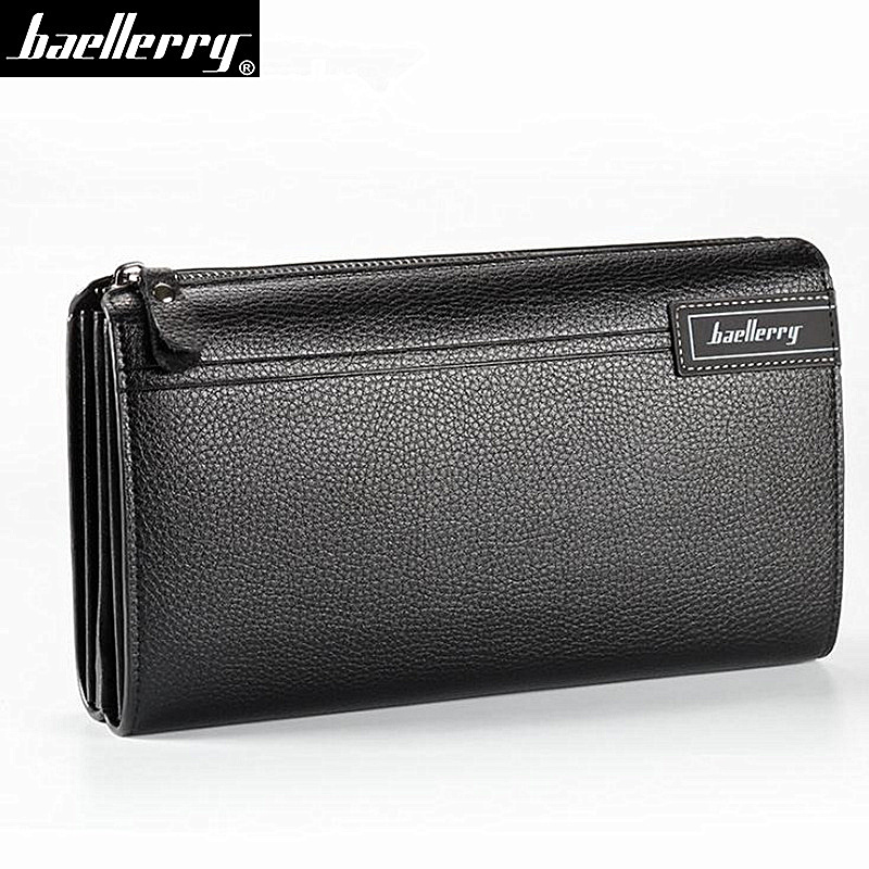 Baellerry Clutch-Bag Phone-Purse Card-Holder Coin-Pocket Men Wallets Business Zipper