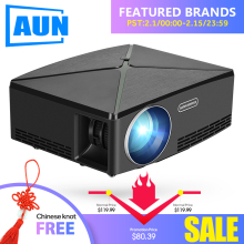 AUN MINI Projector C80 UP, 1280×720 Resolution, Android WIFI Proyector, LED Portable HD Beamer for Home Cinema, Optional C80