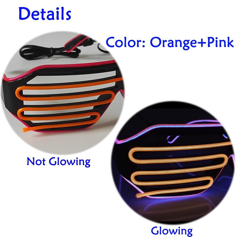 Lights & Lighting ... Novelty Lighting ... 32796411896 ... 5 ... Popular Two Color Bicolor EL shutter glasses LED neon glasses with DC3V EL converter For Bachelor party,Novelty Lighting ...