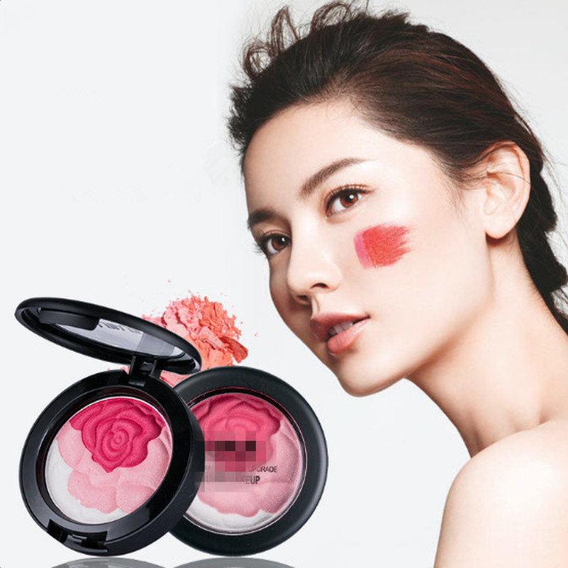 1PC Baked Blush Palette Baked Cheek Color Blusher Dream Sweet Cheek Blush Palette Professional Makeup Product for 3 Options