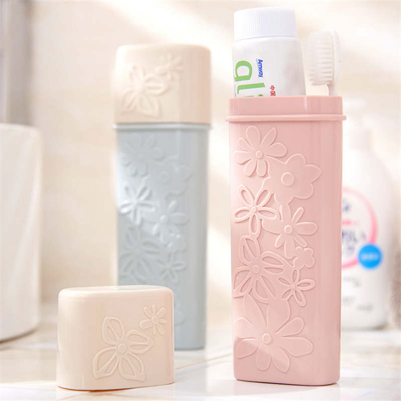 Travel Accessories Portable Toothbrush  Tube Cover Case Cap Plastic Suitcase Holder Baggage Boarding Portable Packing Organizer
