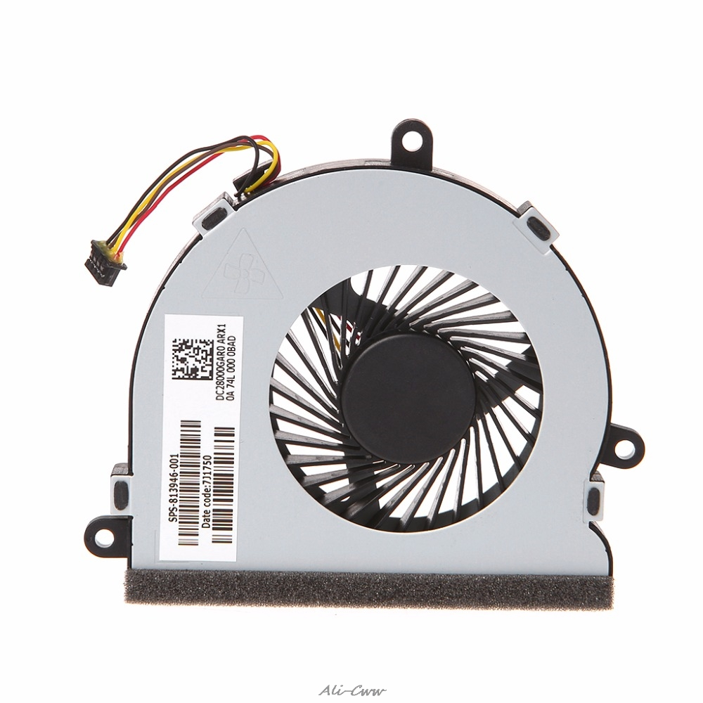DC <font><b>5V</b></font> 0.26A Laptop <font><b>Cooler</b></font> CPU Cooling <font><b>Fan</b></font> For HP 15-AC Series DC28000GAR0 SPS-813946-001 4-PIN cooling <font><b>fan</b></font> image