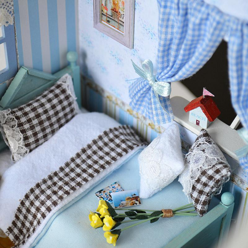 Heminredning Hantverk DIY Doll House Trä Doll Hus Miniatyr DIY - Dockor och tillbehör - Foto 4