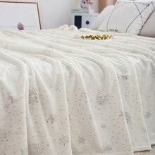 침대에 대 한 부드러운 두꺼운 따뜻한 플 란 넬 담요 킹 사이즈 홈 장식 침대 린 넨 230*250CM 침대보 격자 무늬 담요