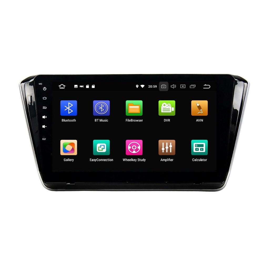 4GB+32GB Octa Core 1 din 10.1 Android 8.0 Car Radio DVD Player for Skoda Superb 2015 2016 GPS Bluetooth WIFI USB Mirror-link