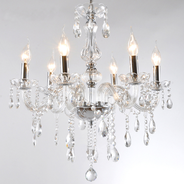 Low Price 12color Choice 5 Bulb European Candle Crystal Chandelier Light Ceiling Bedroom Living Room Lamp