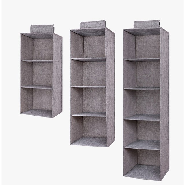 Creative Foldable Clothes Hanging Drawer Box Underwear Sorting Storage Wall Wardrobe Closet Organizer Shelves Organizadores