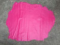 Rose Red Genuine Sheepskin Leather Raw Material For Handbag