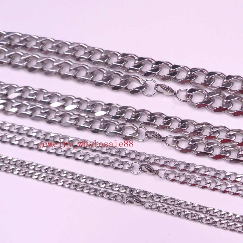 GNAYY 2meter stainless steel Huge 8mm Curb Link Chain Jewelry Findings Marking