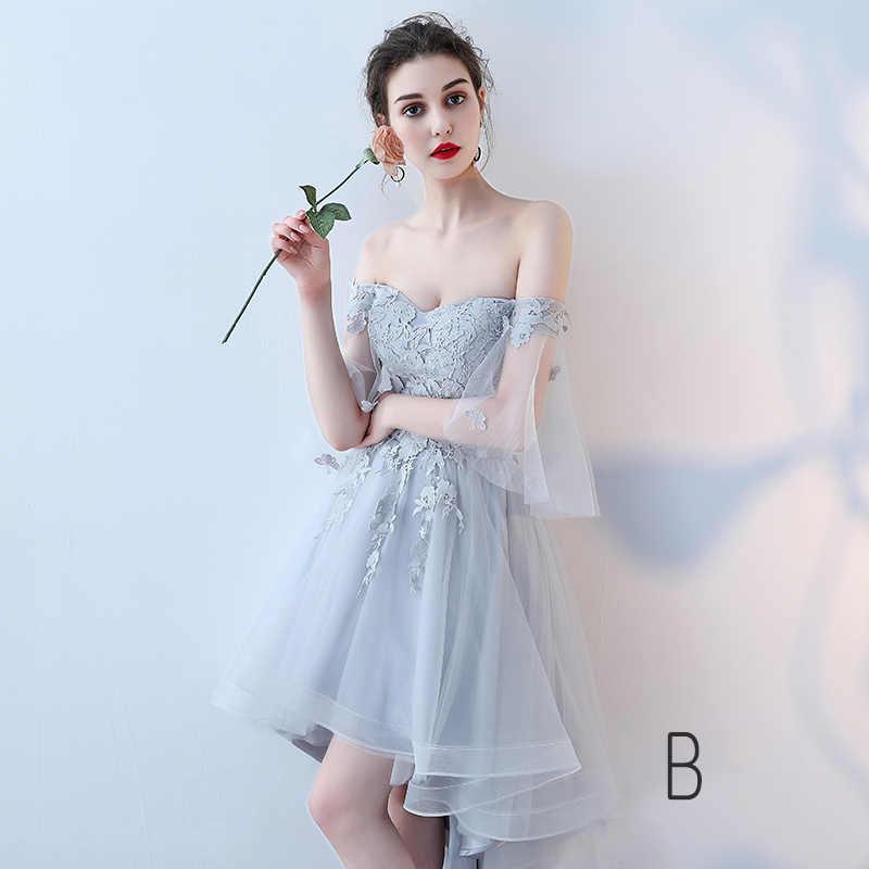f15139fdf ... LAMYA Vintage High Low Prom Dresses Women Elegant Evening Party Dress  Lace Short Front Long Back ...