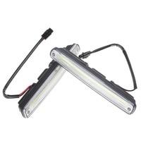 2 X 18cm COB LED Super White Lamp Car Vehicle Daytime Running Light With Installation Bracket