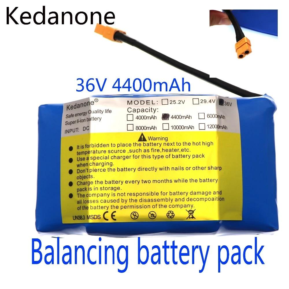 Dilezhiwanjuwu 36V wiederaufladbarer Li-Ionen-Akku 4400mah 4,4AH Lithium-Ionen-Zelle f/ür elektrisches Selbstausgleichs-Scooter-Hoverboard-Einrad