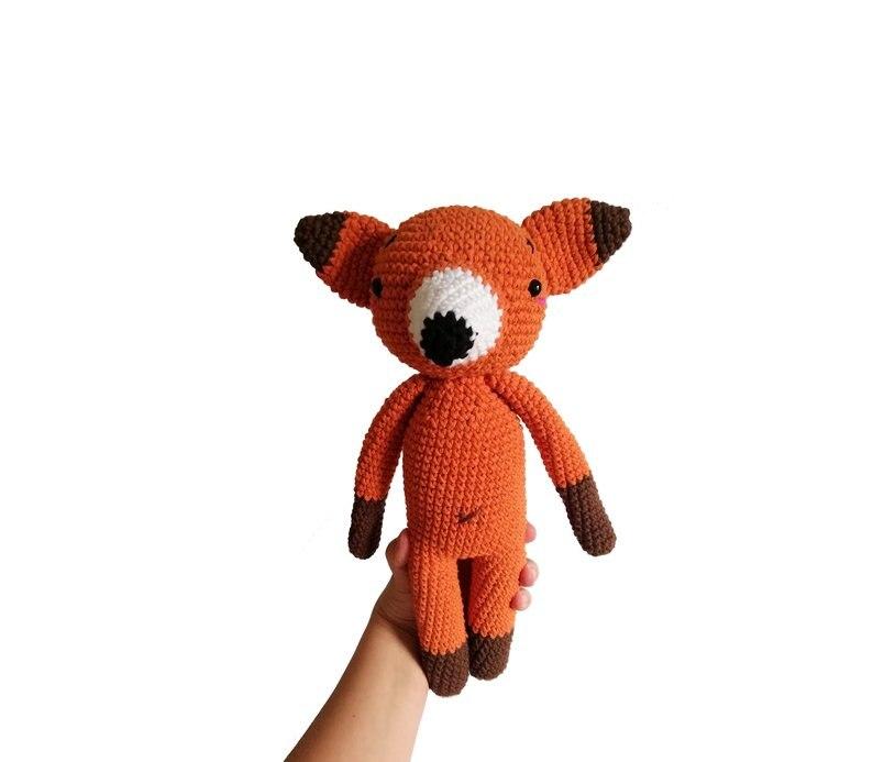 Crochet Toys  Amigurumi  Rattles  Doll  Fox  Model  Number  SBY0019