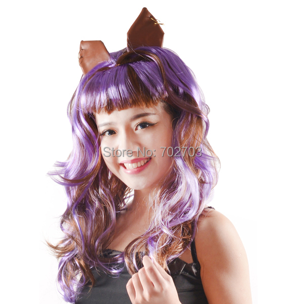 adult clawdeen wolf wig monster high wig synthetic carnival wigs halloween cosplay fancy party hair - Clawdeen Wolf Halloween Costume