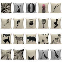 Animal Colorful Zebra decorative cushion covers 45Cmx45Cm Square Home Office printed one side Pillows custom throw pillows