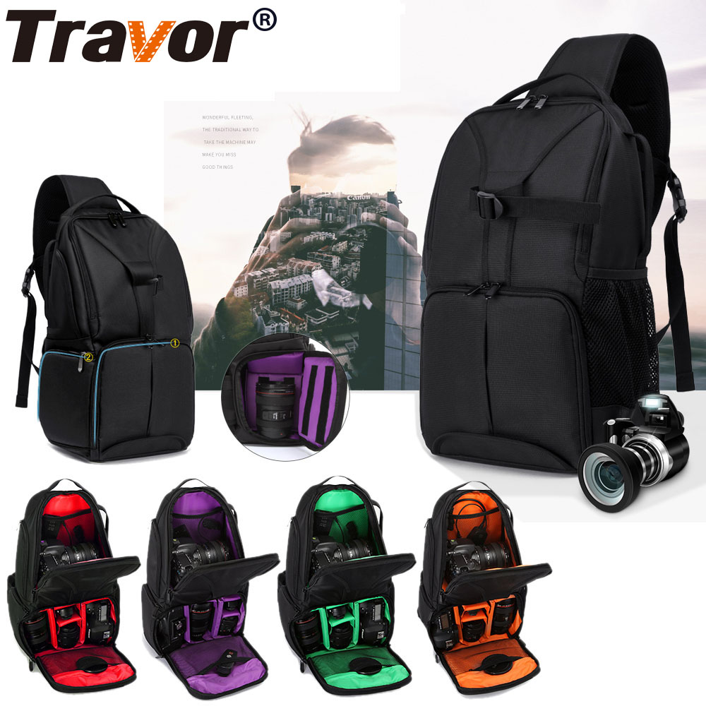 Travor Multi Function Waterproof Video Photo Digital Camera Shoulders Padded Backpack Bag Case Shockproof Small Bags цена 2017