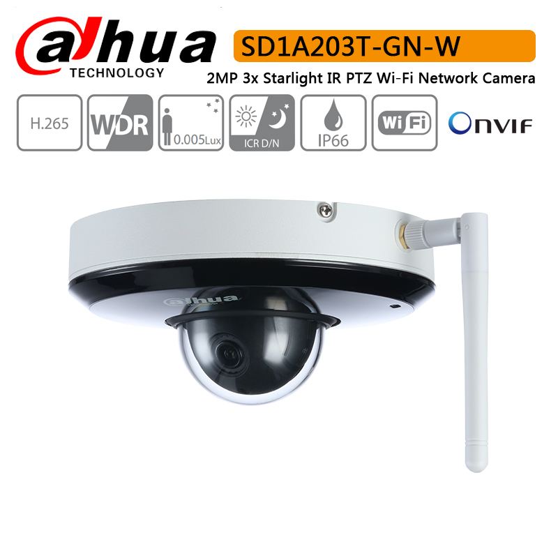 Original Dahua SD1A203T GN W 2MP 1080P 3X Optical Zoom Starlight IR PTZ Wi Fi Wireless