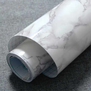3M/5M/10M Modern Waterproof Vinyl Self adhesive Wallpaper Marble Contact Paper Kitchen Cupboard Shelf Drawer Liner Wall Stickers - DISCOUNT ITEM  0% OFF All Category