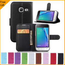 2016 Luxury Wallet PU Leather Case For Samsung Galaxy J1 Mini J105 J105H J105F / J1 Nxt Duos Flip Protective Phone Back Cover