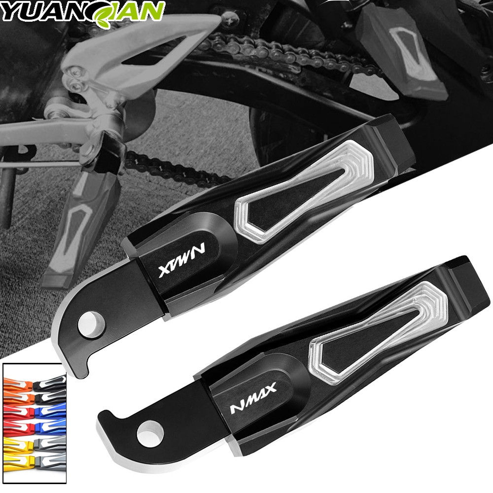 For Yamaha NMAX 155 NMAX155 N-MAX 155 N-MAX155 2015-2017 Motorcycle Accessories CNC Aluminum Passenger Footrests Rear Foot Pegs