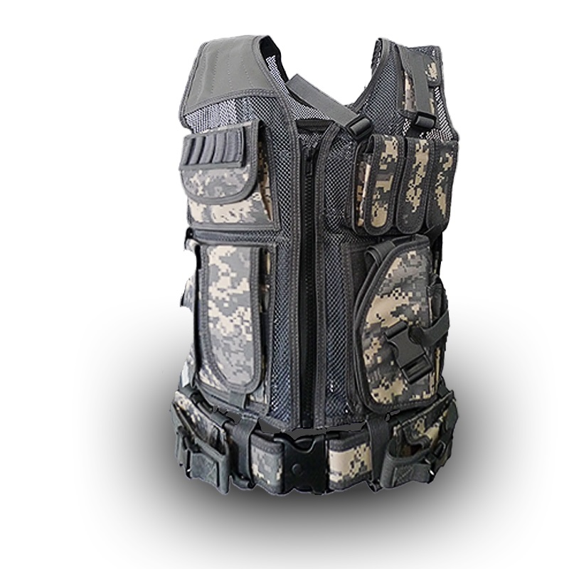 Multi - functional tactical vest summer ventilation network black combat vest CS fans field protection equipment