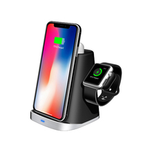 3 IN 110W QI Wireless Charger Wireless Charger For iPhone X Xr XS Max Watch For AirPods Mobile Phone Fast Charge For Samsung S9
