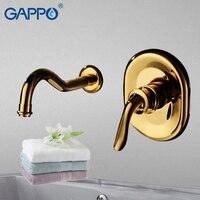 GAPPO Basin Faucet gold basin taps waterfall bathroom faucet mixer water brass basin sink tap Deck Mount faucet armatur